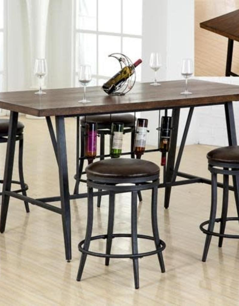Crownmark David Counter Height Dining Table W/ 4 Stools