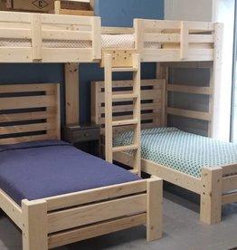 Bargain Bunks Hat Trick Triple Bunk w/ 2 Plank Beds