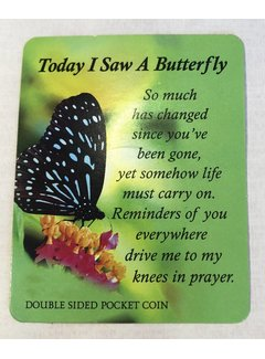 Today I saw a Butterfly Token w/ Card