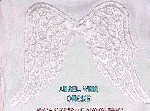 White Baby Wings Onesie