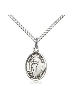 St. Aidan of Lindesfarne Oval Medal with Chain