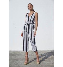 MinkPink minkpink stripe linen jumpsuit