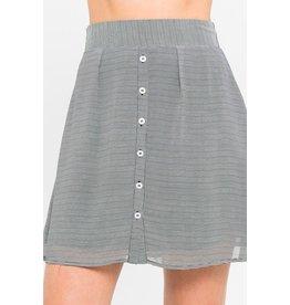 flight lux skylar + madison button down skirt