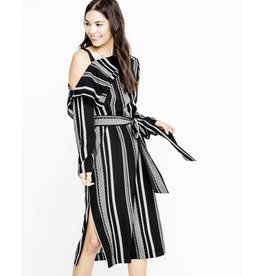 lush off shoulder woven dress