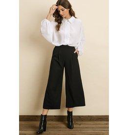 flight lux pleated culotte pants