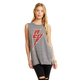 chaser chaser triblend jersey side slit muscle tank