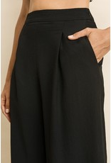 flight lux pleated culotte pants