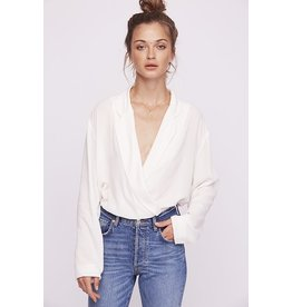 free people free people bodysuit with collar