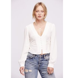 free people free people top with vintage button placket
