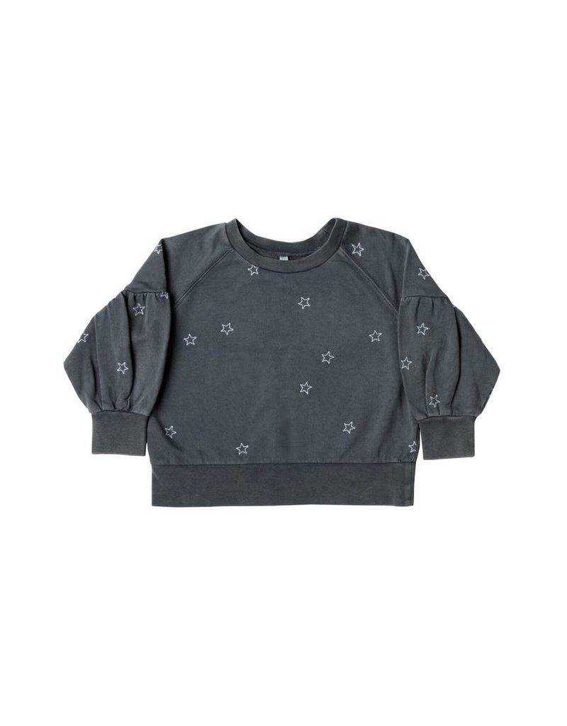 rylee cru rylee + cru puff sleeve sweatshirt