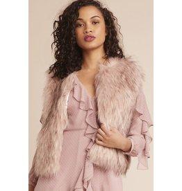 bb dakota bb dakota faux fur pink vest