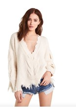 wildfox wildfox sweater with thick cable knit detail