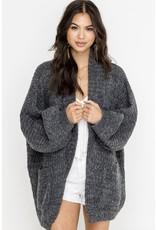lush lush oversized cardigan sweater
