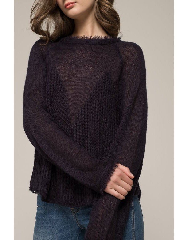 moon river moon river sheer sweater
