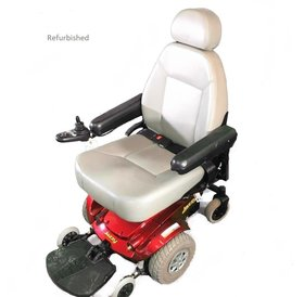 Jazzy Refurbished Jazzy Power Chair Red Base, Gray Seat