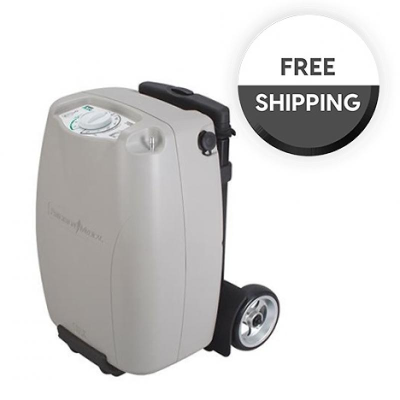 Oxygen Concentrator Hybrid Picture, portable and stationary blend | Free Shipping