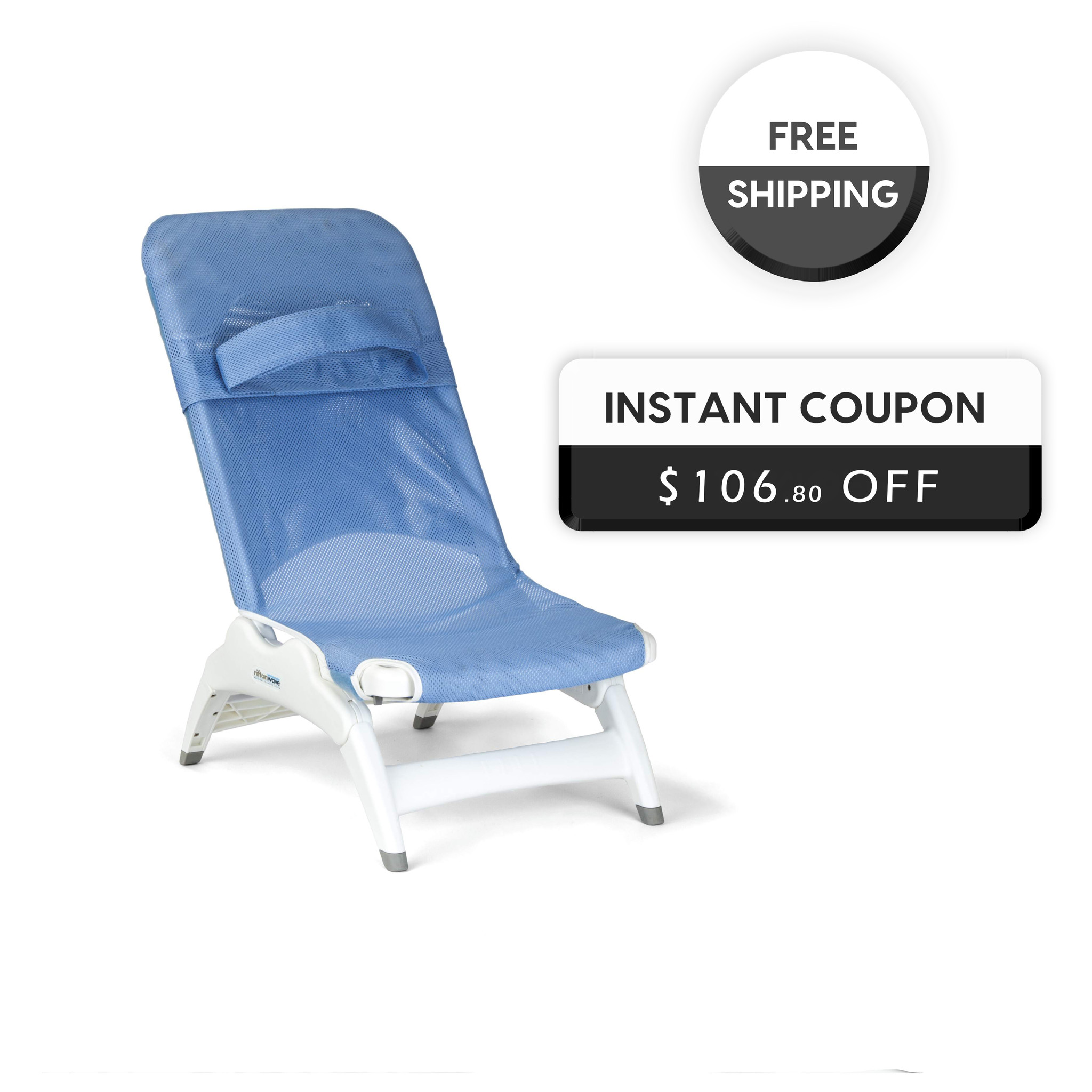 Rifton Wave Medium Bath Chair with Discount & Free Shipping