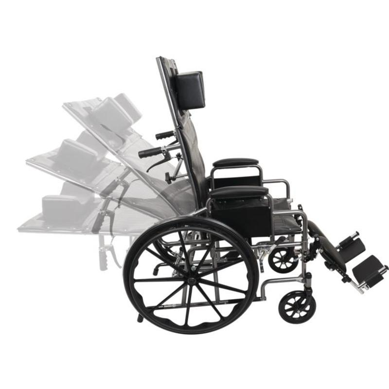 ProBasics ProBasics Full Reclining Wheelchair, Removable Desk Arms & ELRs