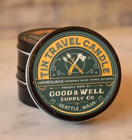 Good and Well Supply Company Tin Travel Candle - Lumberjack