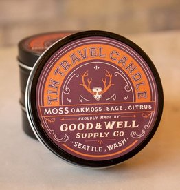 Good and Well Supply Company Tin Travel Candle - Moss