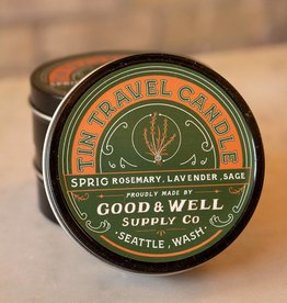 Good and Well Supply Company Tin Travel Candle - Sprig