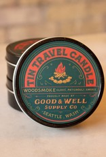 Good and Well Supply Company Tin Travel Candle - Woodsmoke