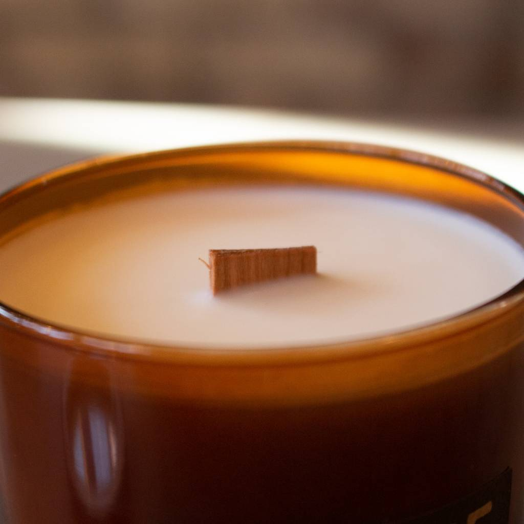 Woodfire Whiskey Glass Candle - Fern Moss & Amber
