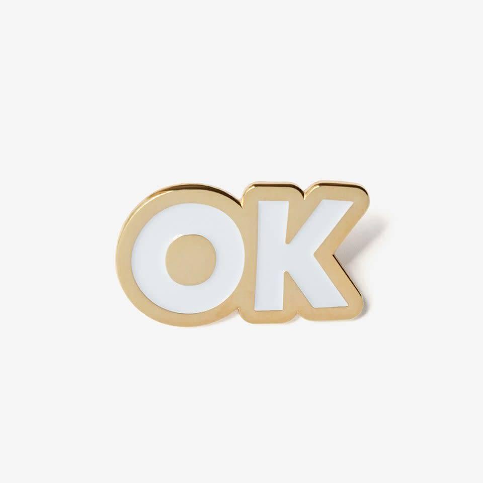 The Good Twin OK Enamel Pin
