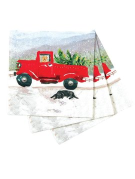Red Truck Paper napkin pack