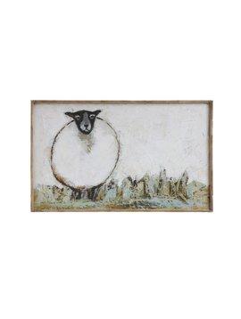 Canvas Sheep Wall Decor
