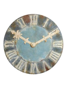 Decretive Distressed Metal Clock