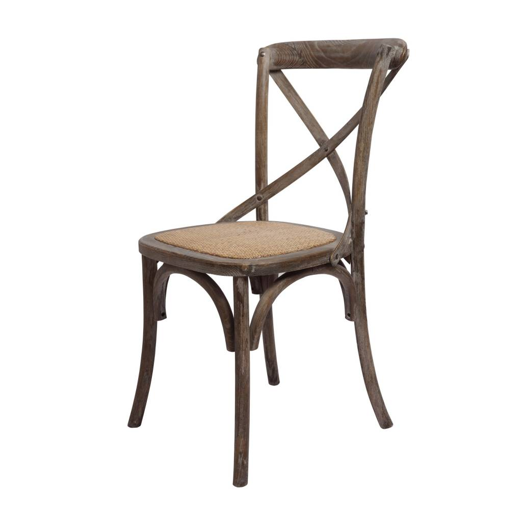 Brody X Back Side Chair Brown Wash