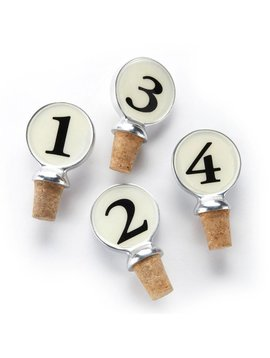 Numbered Wine Corks - set of 4