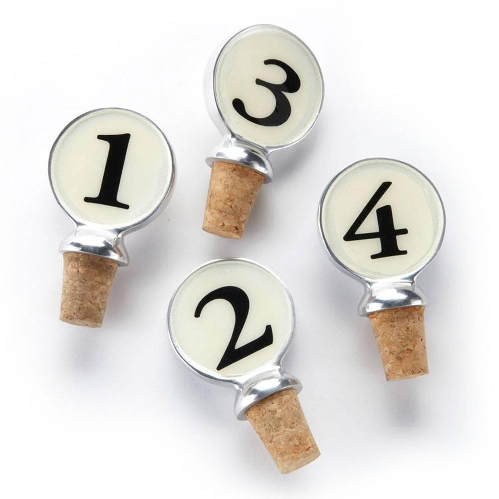 Numbered Wine Corks - set of 4