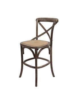 "Bennett 24"" X-Back stool - Brown Wash"