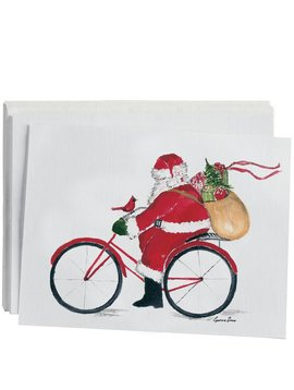 Santa on Bike Beverage Napkins