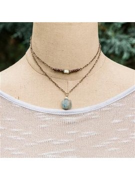 Meridian Drop Necklace - Journey - Antique Gold