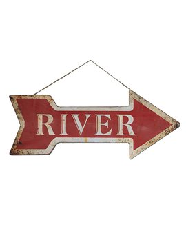 River Arrow Sign