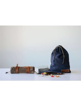 Canvas Rolled Travel Pouch