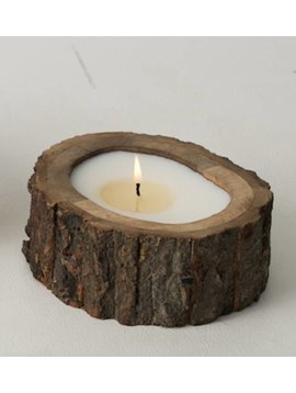 Irregular Tree Bark Candle - Small