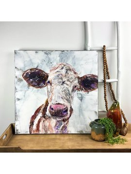 Bessie Brown Eared Girl Cow Painting