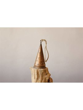 Metal Bell with Distressed Gold Finish