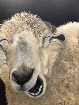 """Chuckles"" Sheep Painting"