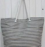 Coutured By Bjork Nautical Stripe Beach Bag W Rope Shoulder Strap