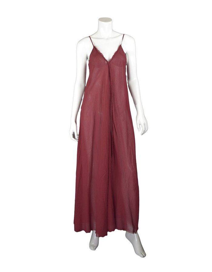 LOST AND FOUND ROOMS SCARLET COTTON SLIP DRESS