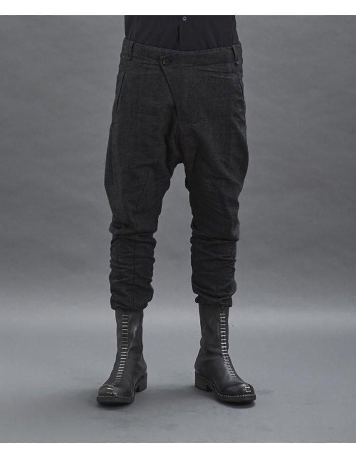MASNADA WOOL LINEN SEAMED PANTS