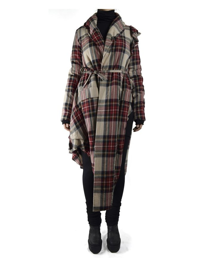 BARBARA BOLOGNA PLAID POSSESION COAT