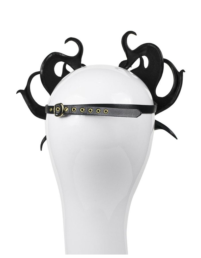 CECILIO LEATHER DESIGNS FLAMES FACE MASK