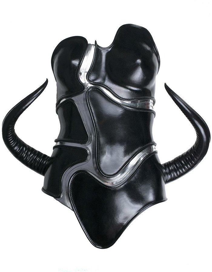 CECILIO LEATHER DESIGNS HORNED CORSET