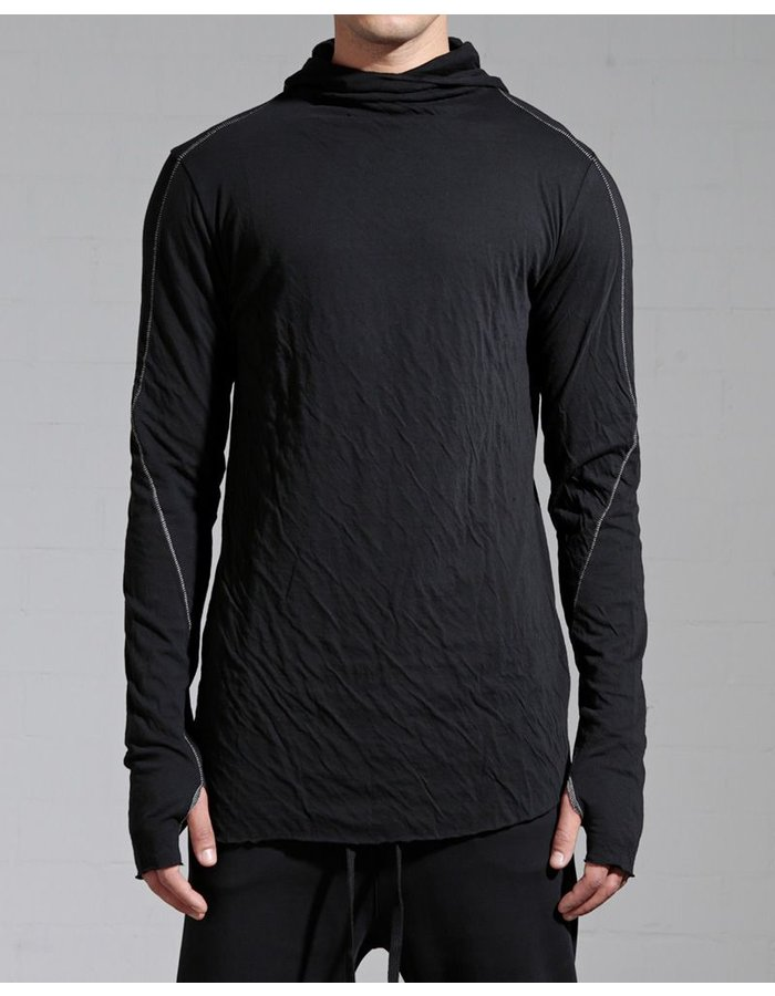 THOM KROM HOODED LONG SLEEVE W/STITCH